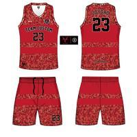 custom sublimation printing basketball uniforms 6JT29205